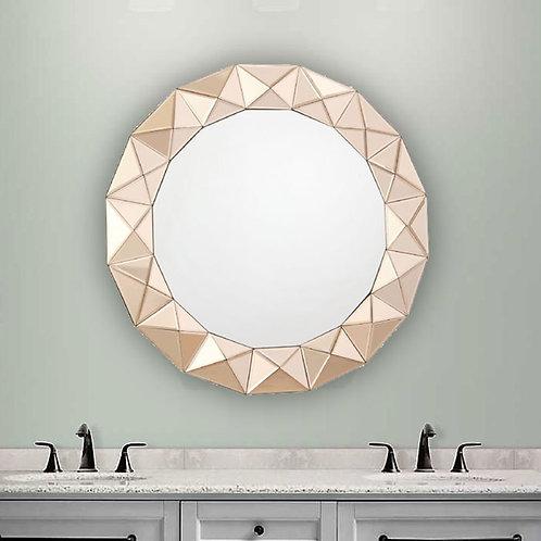 Rose Gold Round Mirror 002CET80 Dar Lighting Image 1