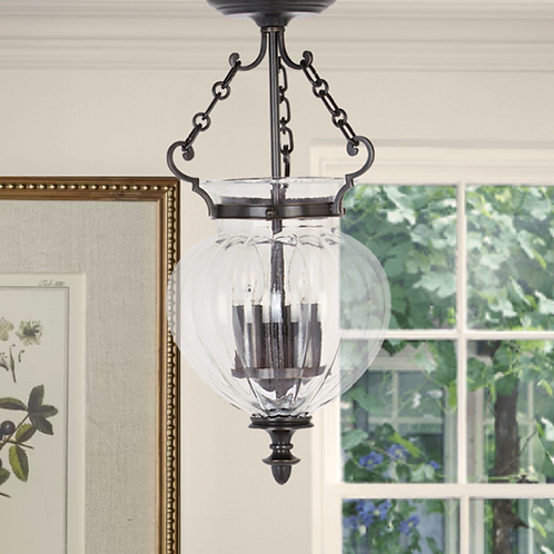 Bronze 3-Light Ceiling Lantern