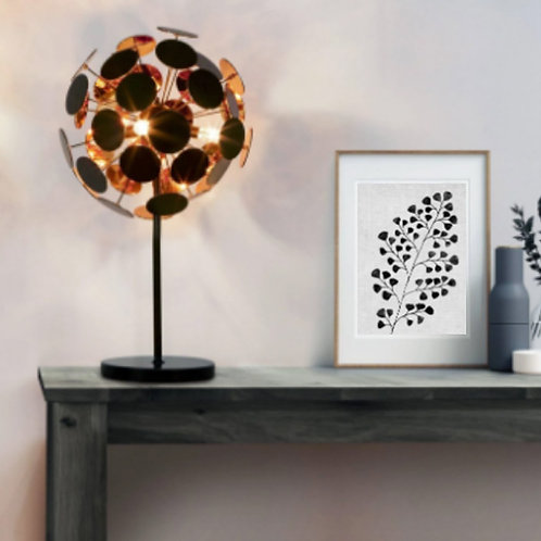 Black and Gold Disc Table Lamp