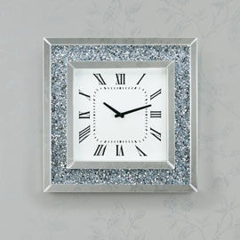 Diamond-Effect-Square-Clock-B327-270-270