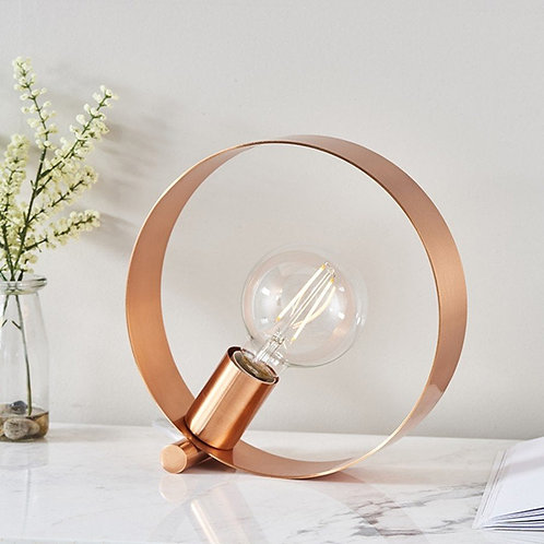 Abstract Cooper Hoop Table Lamp