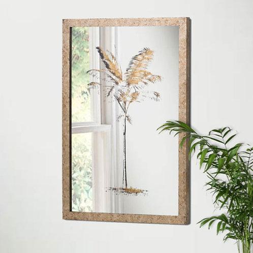 Metallic Mirrored Brass Palm Artwork