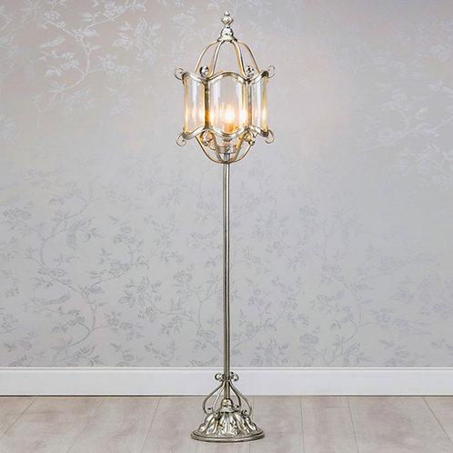 Antique Silver Floor Lamp