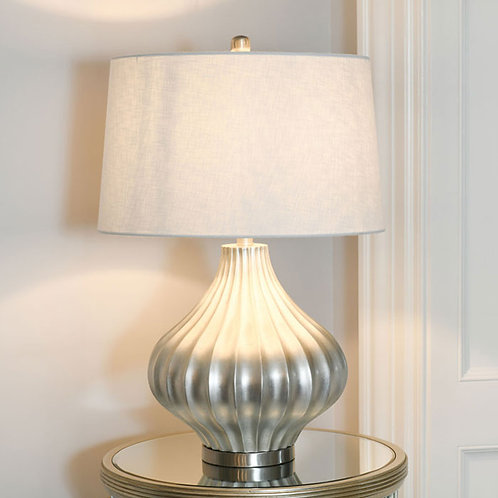 Large Luxury Silver Table Lamp