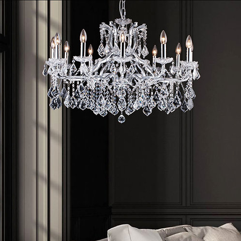 Luxurious 12 Light Crystal Chandelier