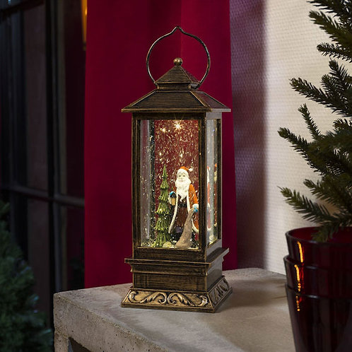 LED Santa Scene Water Lantern
