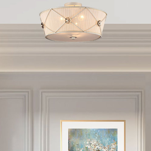 Decorative Organza Flower Shade Ceiling Light