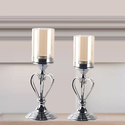 Chrome Candle Holders