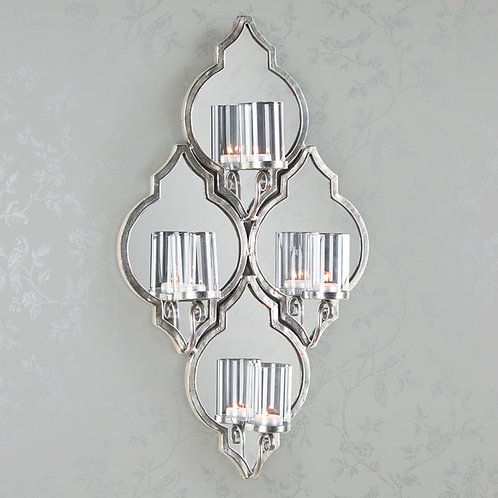 Gatsby Silver Wall Sconce