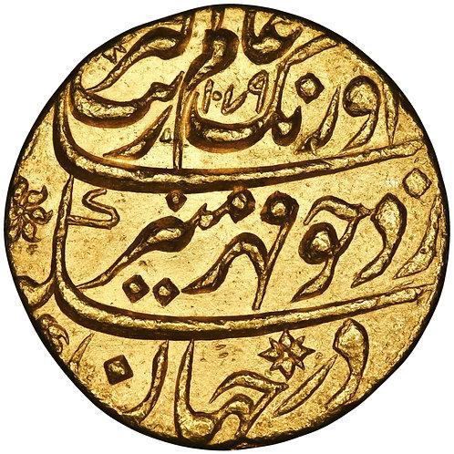 Mughal, Aurangzeb, mohur, Aurangabad, AH 1079//12