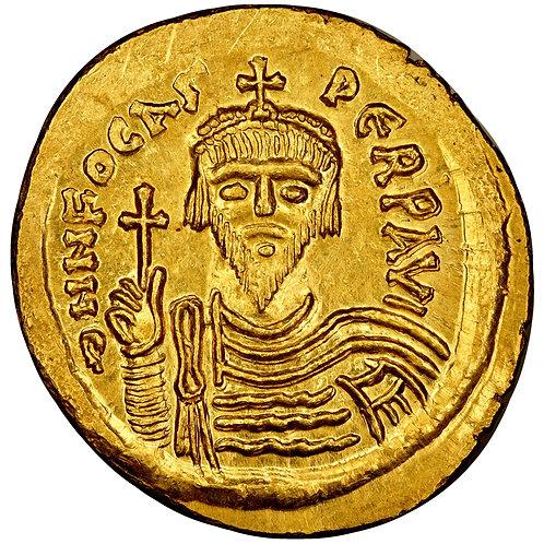 Byzantine, Phocas, solidus, Constantinople, 602-610 CE