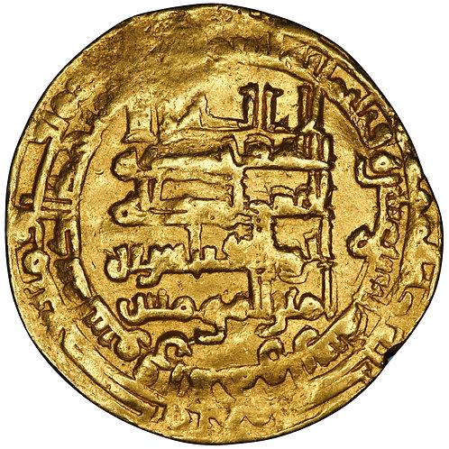 Abbasid, Al-Muqtadir Billah, dinar, Suq Al-Ahwaz, AH 312