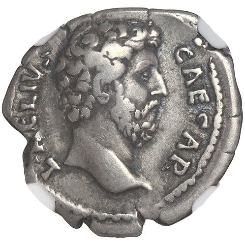 Roman Empire, Aelius Caesar, denarius, Rome, 136-138 CE, Felicitas, NGC VF