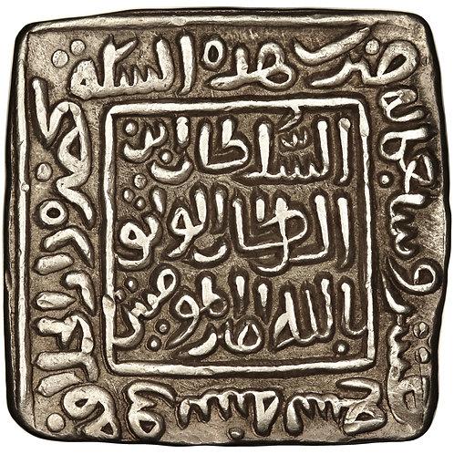 Dehli, Mubarak Shah, square tanka, Dar Al-Khilafa, AH 719