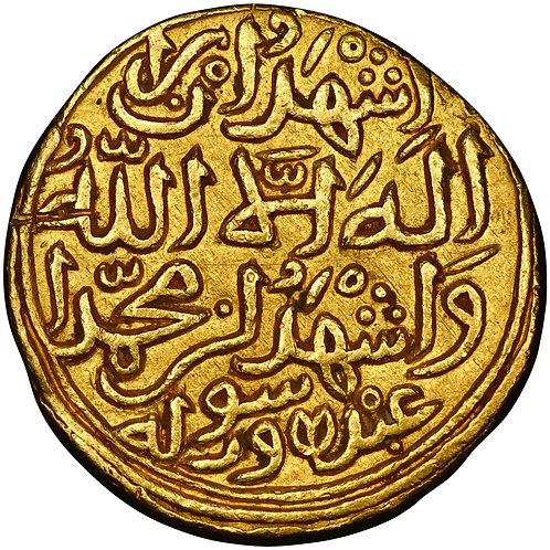 Delhi, Muhammad III, dinar, Hadrat Dehli, AH 727