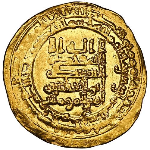 Abbasid, Al-Muqtadir Billah, dinar, Hamadan, AH 318