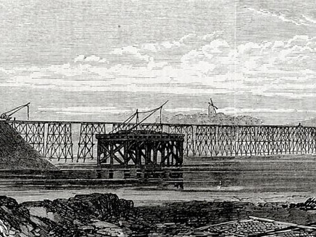 Solway Viaduct from Bowness on ~Solway To Scotland