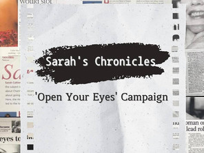 Sarah's Chronicles #19 - ['Open Your Eyes' campaign with RNIB, Diabetes UK, Specsavers]⠀