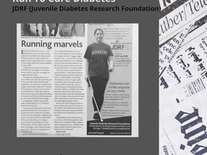 Sarah's Chronicles #13 - [Run To Cure Diabetes]JDRF UK Type 1 Diabetes Research Funding and Advocac
