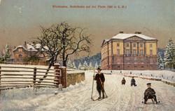 Jagdschloss Platte um 1910