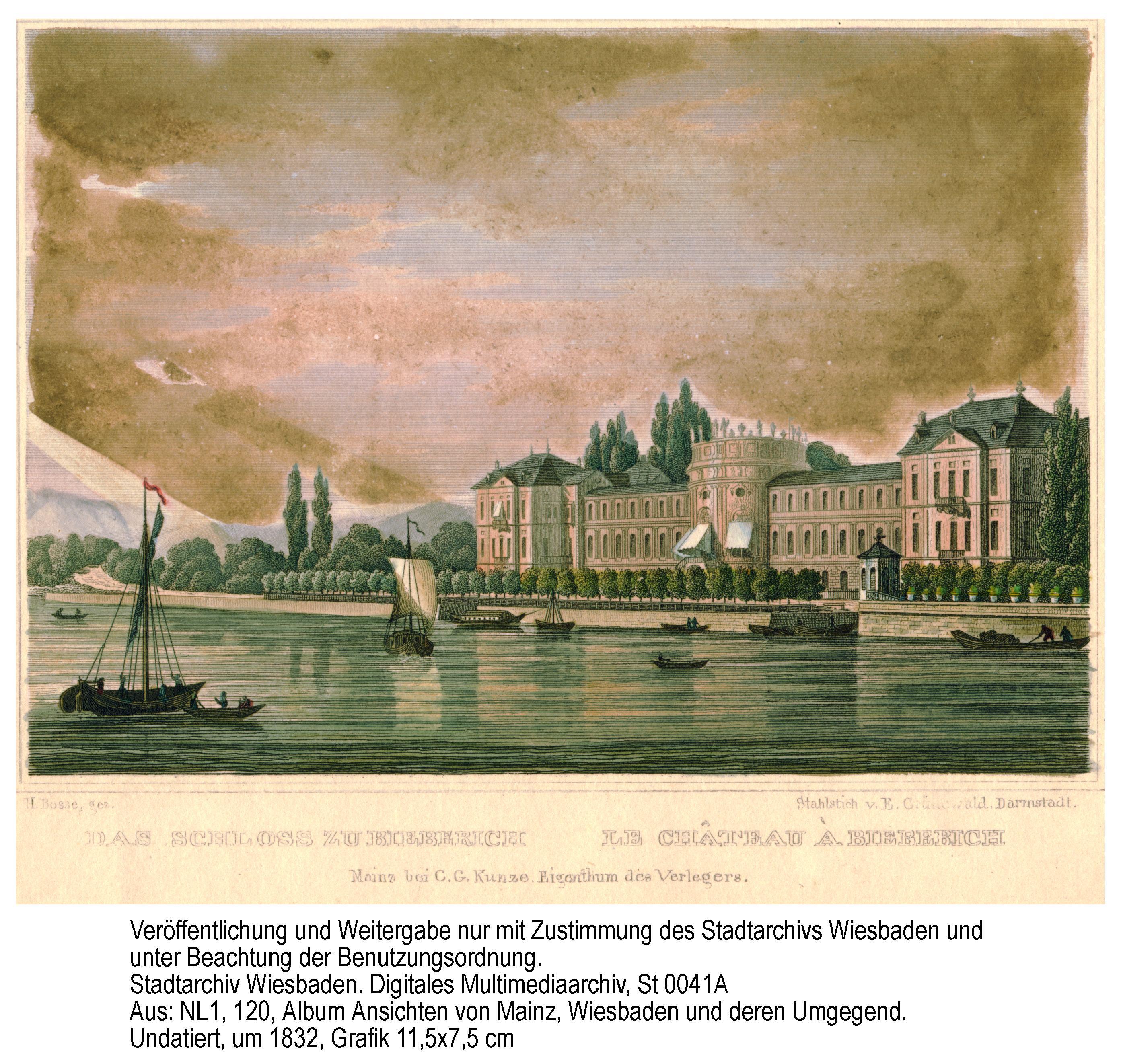 Biebricher Schloss um 1832