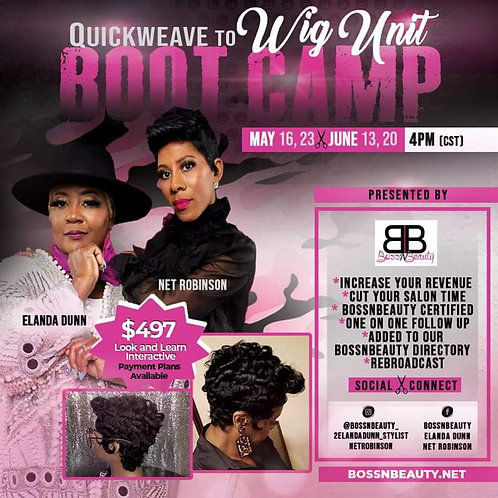 MAY 23-Quickweave to WIG Bootcamp ($497)