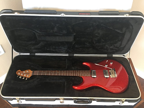2014 Music Man Luke III Solid Body Guitar - Cardinal Red Sparkle
