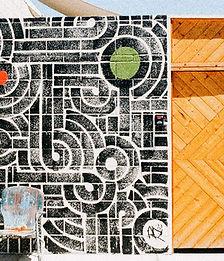 Wood and Brick Street Art