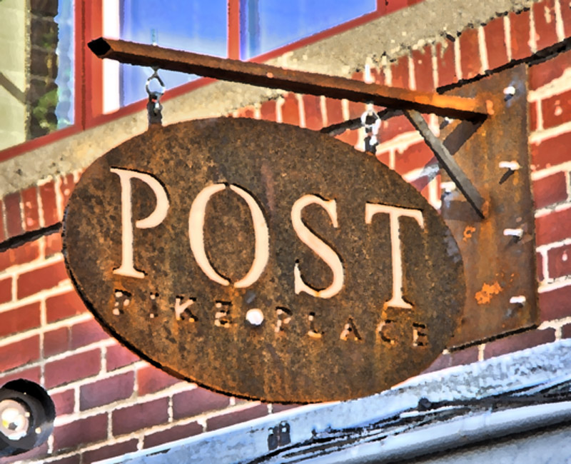 Post sign