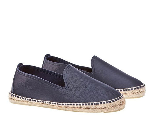 Espadrilles - Navy Leather
