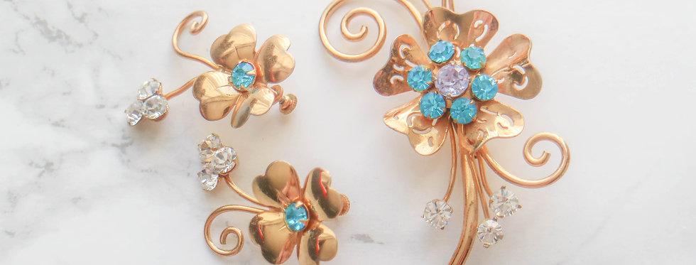 Signed Vintage Coro Jewellery Set