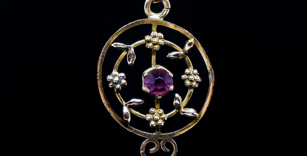 Antique Art Nouveau Lavalier Pendant Front View