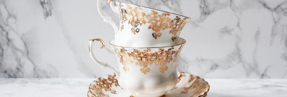 Royal Albert Vintage Gold Tea Set