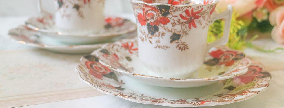 Vintage Hand-painted Trio Tea Sets