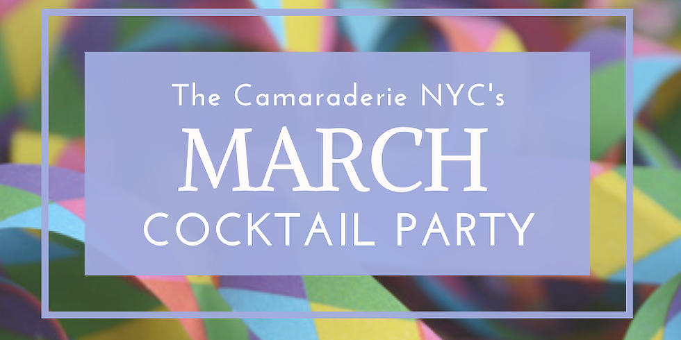 The Camaraderie NYC's March Cocktail Party (1)