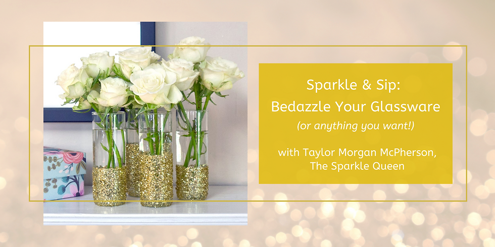 Remote Sparkle & Sip: Bedazzle Your Glassware (or anything you want!)