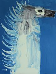Frederik Næblerød The Spirit 1, 2021 Enamel paint and acrylic on canvas 150 x 120 cm (FN.314.04)