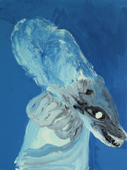 Frederik Næblerød The Spirit 2, 2021 Enamel paint and acrylic on canvas 150 x 120 cm (FN.313.04)