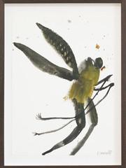 Frederik Næblerød Untitled, 2021 Watercolor on paper Smoked oak frame, museum glass 49,5 x 36,5 cm (FN.319.04)