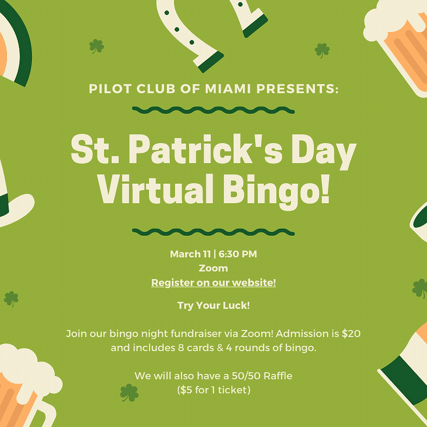 St. Patrick's Day Virtual BINGO Night!