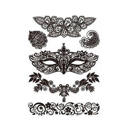 mix mask sexy temp tattoo | מיקס מסיכה תחרה פורים