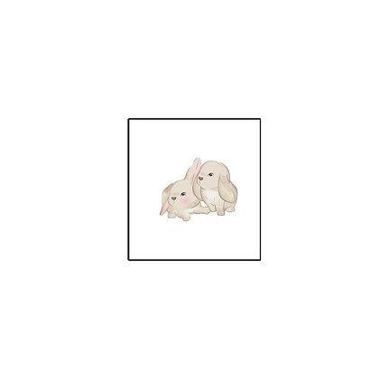 Rabbits Temp tattoo | קעקוע זמני שפנים ארנבים