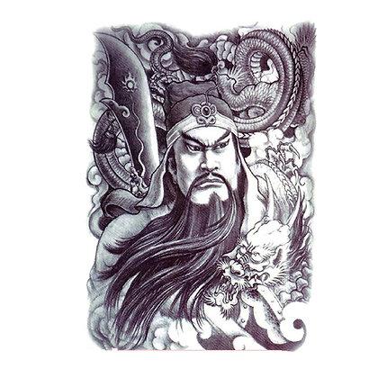 Chinese Warrior temp tattoo| kujo xhbh1