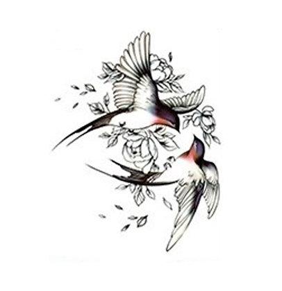 2 birds  temp tattoo |שני ציפורים