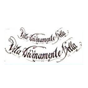 text temporary tattoo | טקסט לחזה מעוגל