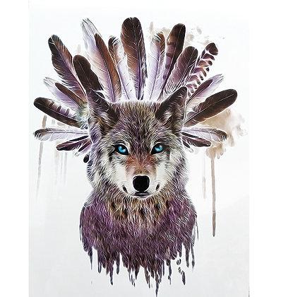 Indian wolf temp tattoo | נוצות זאב