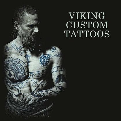 Viking custome temporary tattoo   קעקועים זמניים וויקינג