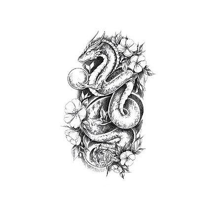 Dragon temporary tattoo | קעקוע זמני דרקון