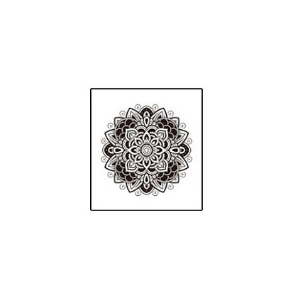 mandala1 temp tattoo | קעקוע זמני מנדלה