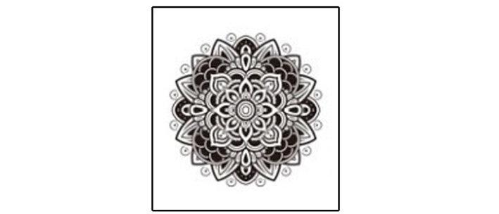 mandala1 temp tattoo | קעקוע זמני מנדלה